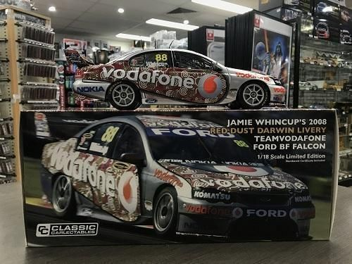 Jamie Whincup 2008 Red Dust Darwin Livery Team Vodafone BF Falcon Die Cast Model Car 1:18
