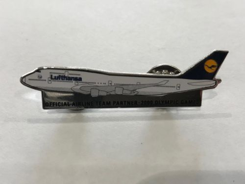 Lufthansa - Official Airline Team Partner Sydney 2000 Olympic Games Plane Lapel Pin Badge