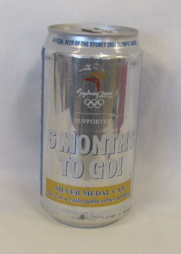 2000 Olympic Games Official Beer Silver Limited Edition Fosters