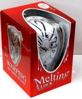 Melting Clock Great For Mantlepiece Or Shelf - So Hot Its Cool, Time