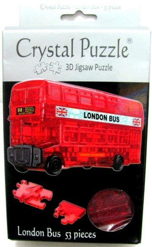 Red London Bus 3D Crystal Jigsaw Puzzle 53 Pieces Fun Activity DIY Gift Idea