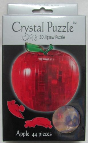Delicious Red Apple 3D Crystal Jigsaw Puzzle 44 Pieces Fun Activity DIY Gift Idea