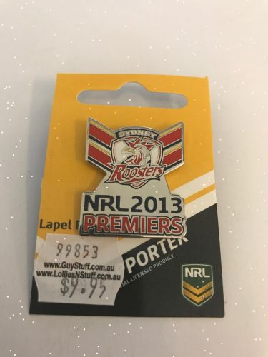 Sydney Roosters NRL 2013 Premiers Collectable Lapel Hat Tie Pin Badge