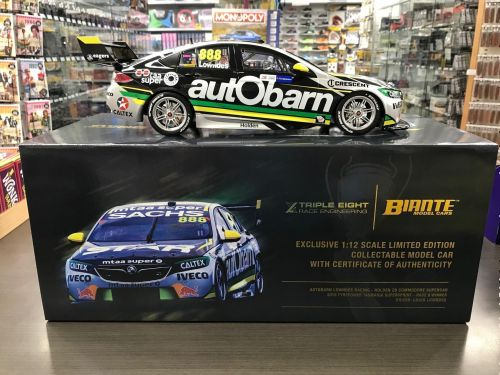 2018 Virgin Australia Supercars Championship #888 Craig Lowndes Autobarn Lowndes Racing Holden ZB Commodore Supercar 1:12 Scale Model Car