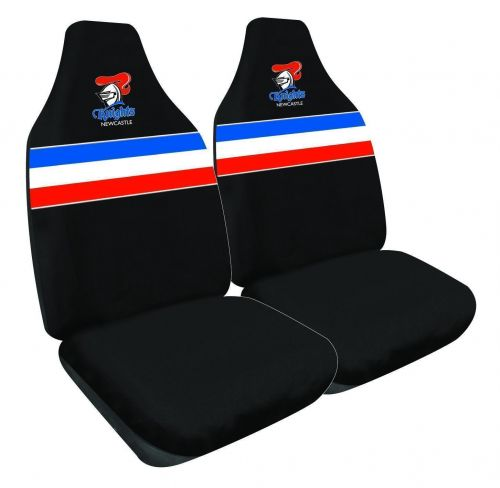 Newcastle Knights NRL Set Of 2 Size 60 High Back Bucket Air Bag Compatible Front Seat Covers