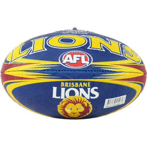 Brisbane Lions AFL Team Size 2 Synthetic Football Foot Ball Footy