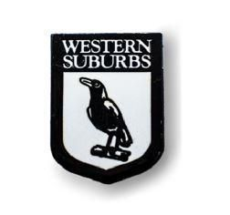 Western Suburbs Magpies NRL Team Heritage Logo Collectable Lapel Hat Tie Pin Badge