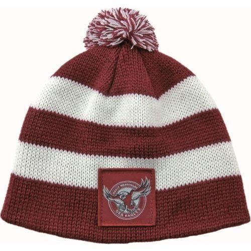 Manly Sea Eagles NRL Football New Stripe Baby Beanie Toddler Hat