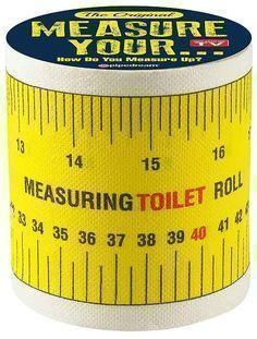 The Original Measure Your... Measuring Toilet Paper Roll Novelty Adults Only - Bachelor Party