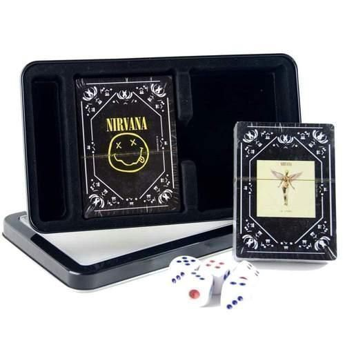 Nirvana Twin Pack 2 Decks of Casino Quality Playing Cards With 5 Dice