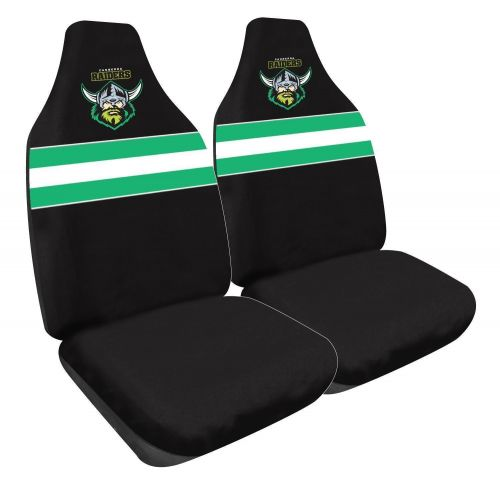Canberra Raiders NRL Set Of 2 Size 60 High Back Bucket Air Bag Compatible Front Seat Covers