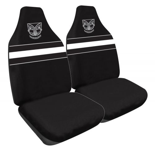 New Zealand Warriors NRL Set Of 2 Size 60 High Back Bucket Air Bag Compatible Front Seat Covers
