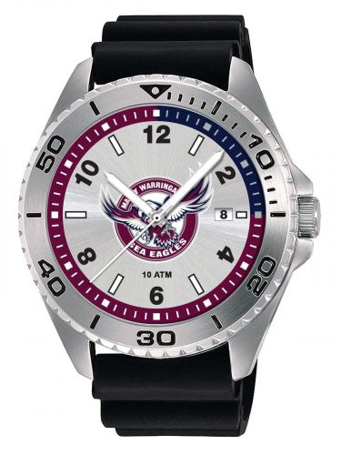 Manly Sea Eagles NRL Team Logo Try Series Mens Dress Watch