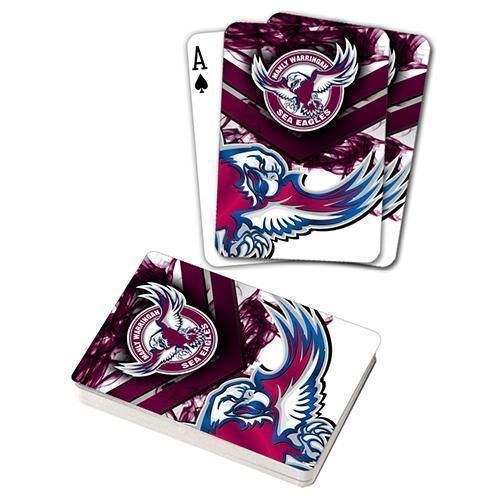 Manly Sea Eagles NRL Team Logo Full Deck Set of Playing Cards Poker