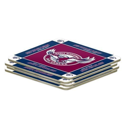 Manly Sea Eagles NRL Team Logo Pack of 4 Coasters