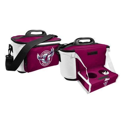 Manly Sea Eagles NRL Large Esky Insulated Lunch Cooler Bag With Drinks Tray