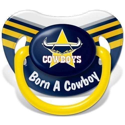 North Queensland Cowboys NRL Team Logo Infant Baby Dummy Pacifier +6 Months
