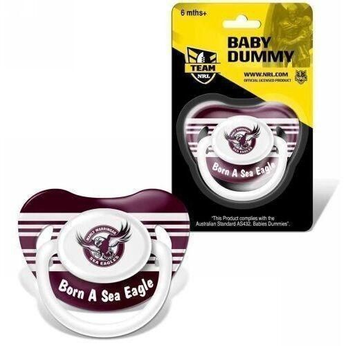 Manly Sea Eagles NRL Team Logo Infant Baby Dummy Pacifier +6 Months