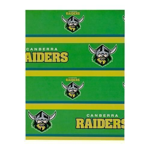 Canberra Raiders NRL Gift Birthday Present Wrapping Paper