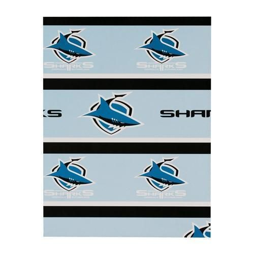 Cronulla Sharks NRL Gift Birthday Present Wrapping Paper