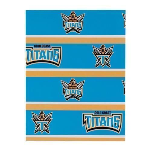 Gold Coast Titans NRL Gift Birthday Present Wrapping Paper