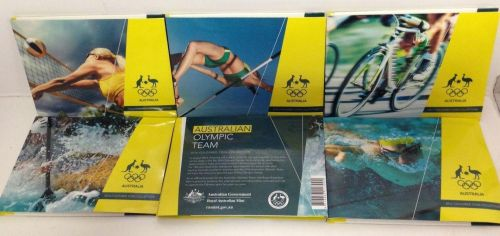 All 5 Folder Cover Designs 2016 $2 Australian Rio Olympic Games Team Set Of 5 Coloured Uncirculated Coins Coin