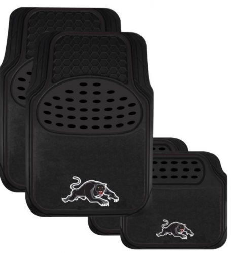 Penrith Panthers NRL Team Logo Set of 4 Heavy Duty Rubber 2 Front & 2 Rear Car Floor Mats