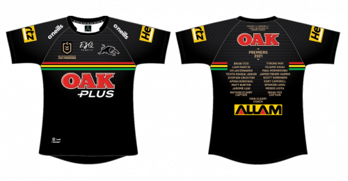 PRE ORDER - Penrith Panthers 2021 NRL Premiers Mens Adult Jersey (FULL PRICE - $159.99)