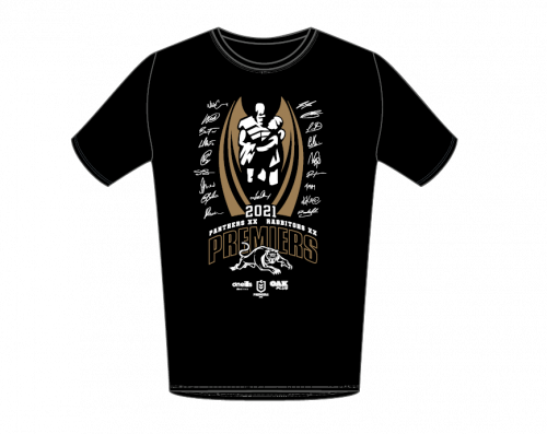 Penrith Panthers 2021 NRL Premiers Mens Adult O'Neills Tee Shirt T-Shirt