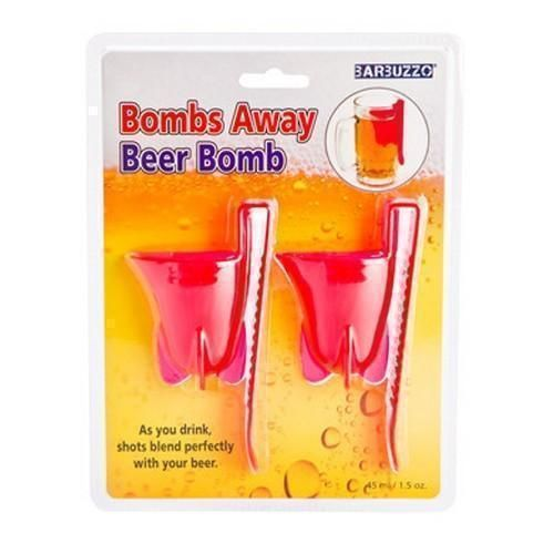 Bombs Away Beer Bomb Set of 2 Shot Cups Adult Drinking Game Novelty Gift Idea