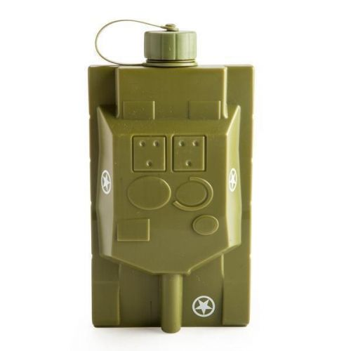 Army Tank Tanker Tanked Hip Flask 473ml 16oz Novelty Gift Idea