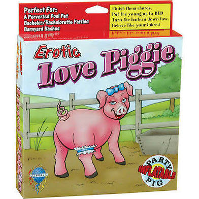 Erotic Love Piggie Inflatable Love Doll Novelty Adults Only - Bachelor Party Bucks Night