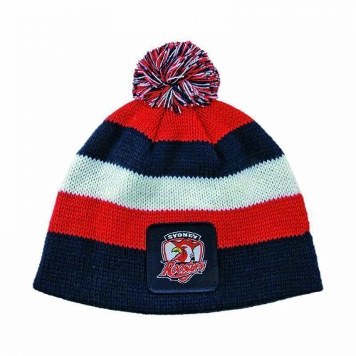 Sydney Roosters NRL Football New Stripe Baby Beanie Toddler Hat