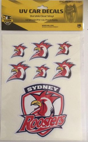 Sydney Roosters NRL Logo Set of 7 UV Car Decal Sticker Stickers Sheet iTag