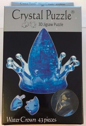 Water Crown 3D Crystal Jigsaw Puzzle 43 Pieces Fun Activity DIY Gift Idea