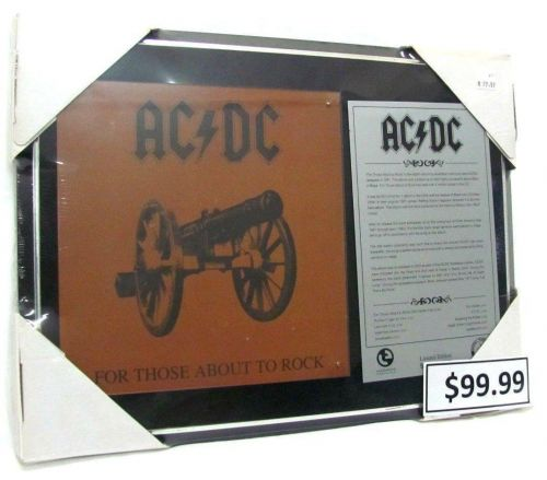 ACDC AC-DC About To Rock Plague Collectable Merchandise Music Cannon Image