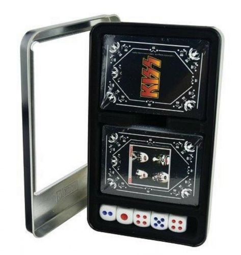 Kiss Twin Pack 2 Decks of Casino Quality Playing Cards With 5 Dice