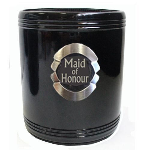 Maid of Honour Stainless Steel Can Cooler Stubby Holder Wedding Table Bridal Party Toasting Celebration