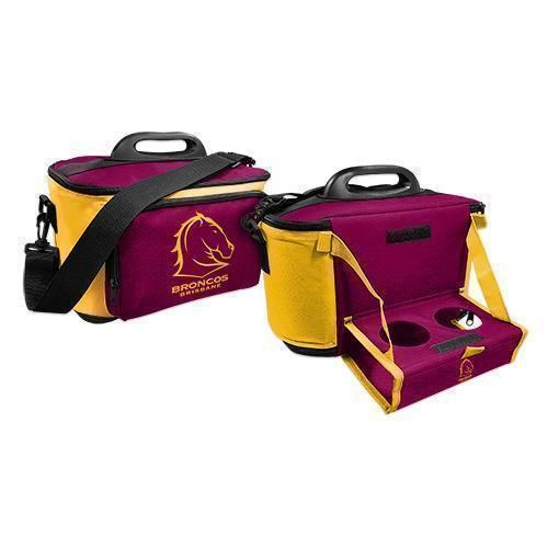 Brisbane Broncos NRL Large Esky Insulated Lunch Cooler Bag With Drinks Tray