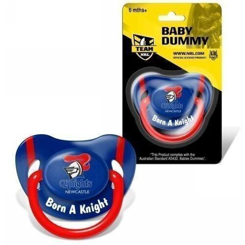 Newcastle Knights NRL Team Logo Infant Baby Dummy Pacifier +6 Months