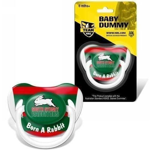 South Sydney Rabbitohs NRL Team Logo Infant Baby Dummy Pacifier +6 Months