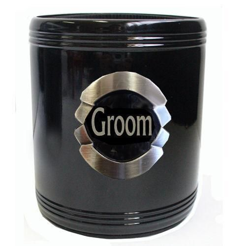 Groom Stainless Steel Can Cooler Stubby Holder Wedding Table Bridal Party Toasting Celebration