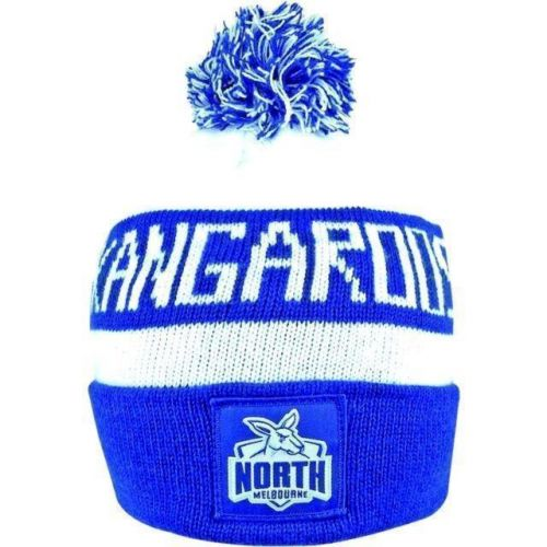 North Melbourne Kangaroos AFL Football Cloth Patch Beanie