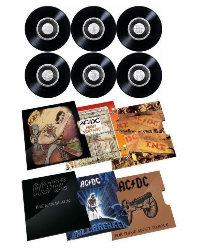2020/2021 ACDC AC/DC 20c Six Coin Collection (Not In Box) Coloured Uncirculated Coins Royal Australian Mint RAM