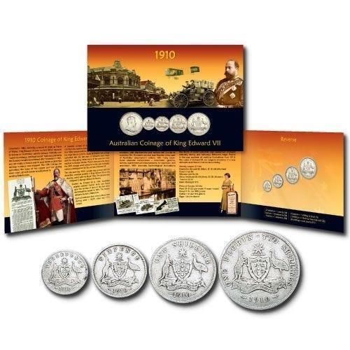 1910 Australian Coinage of King Edward VII Commemorative Coin Pack