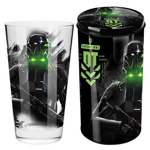 Death Trooper Star Wars Collector Conical Glass in Tin Money Box