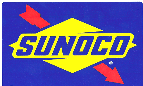 Sunoco Official Fuel of NASCAR Spot Sticker Decal