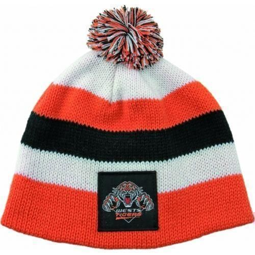 Wests Tigers NRL Football New Stripe Baby Beanie Toddler Hat