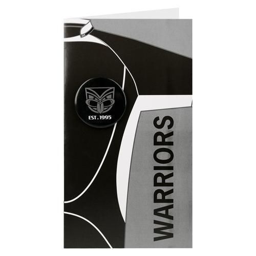 New Zealand Warriors NRL Blank Birthday Gift Card With Badge & Envelope