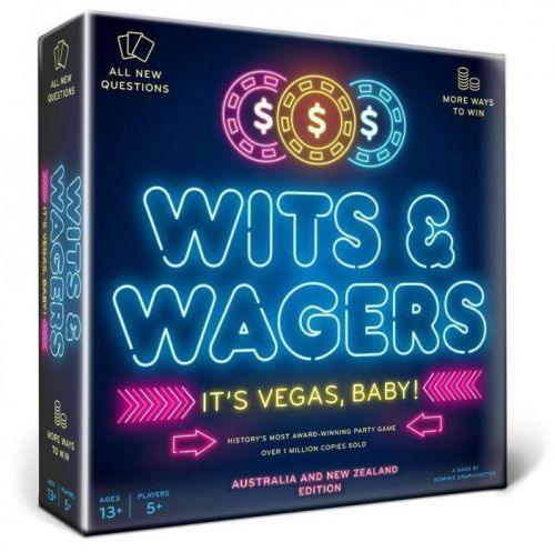 Wits & Wagers It's Vegas Baby Australia and New Zealand Edition Question Betting Card Game